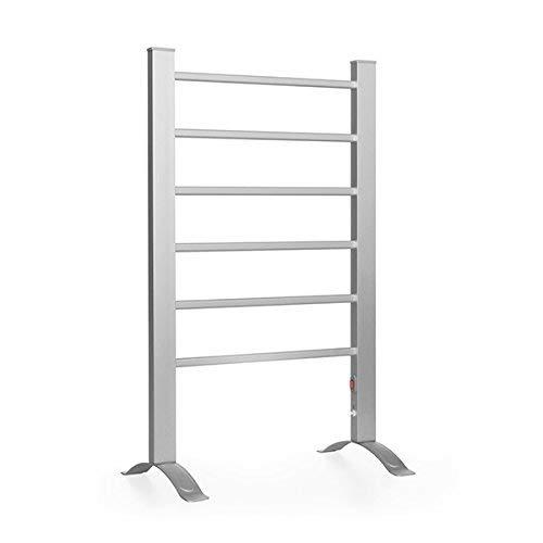 InnovaGoods | Toallero eléctrico aluminio | toallero de pared y suelo | Secador de toallas | Gris | 55 x 91 x 35 cm