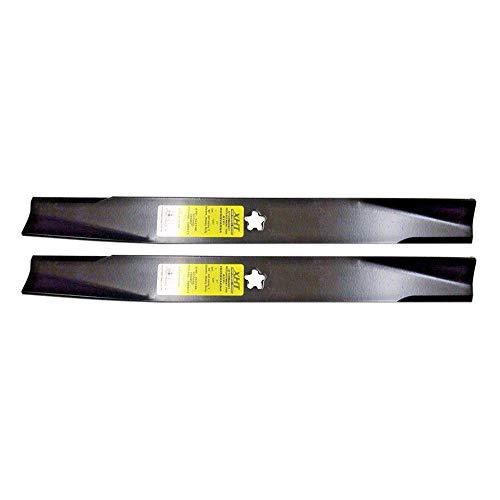 New 127843 (2) USA XHT Heavy Duty HL Blades Craftsman Compatible with Husqvarna 131323 138498 138971 fits YTH1542XP,YTH1542XPG,LTH1342,LTH1342A + Free Lawn Care E-Book