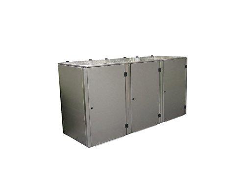 Mülltonnenbox Edelstahl, Modell Eleganza G 120 Liter als Dreierbox