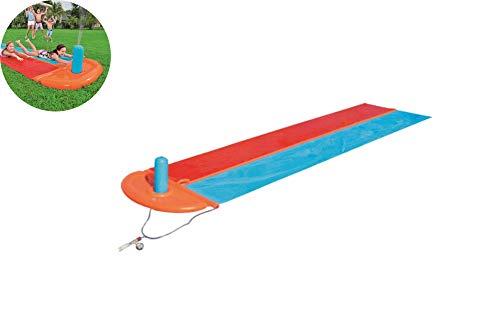 MAQRLT Surfbrett Wasser-Ski-Tuch-Doppel, Rasen Wasserrutschen Inflatable Pool Entertainment Wasserskituch für Familienaktivitäten Seil Schwimmdock
