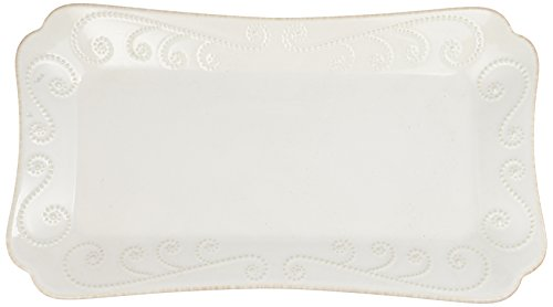 Lenox French Perle Hors D'Oeuvre Tray, 13.5-Inch, White - 825740
