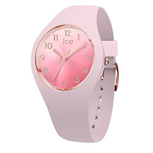 Ice-Watch - ICE sunset Pink - Rosa Damenuhr mit Silikonarmband - 015742 (Small)