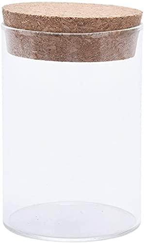 NYZXH Botellas Botellas y Cajas Jarra de Vidrio Jarra sellada Botella de Almacenamiento de Alimentos con Tapa de Corcho Cocina portátil Caja de Almacenamiento de refrigerador (Color: A2)