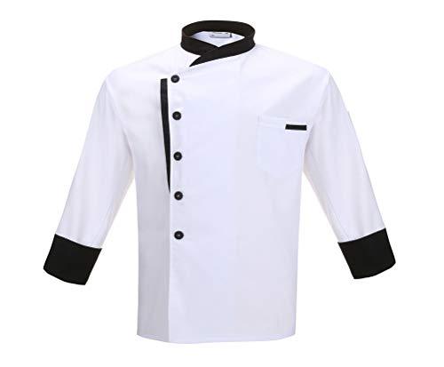 Nanxson Kochjacke Herren Damen Bäckerjacke Koch Jacke Langarm Kurzarm Kochkleidung mit Knöpfe CFM0016
