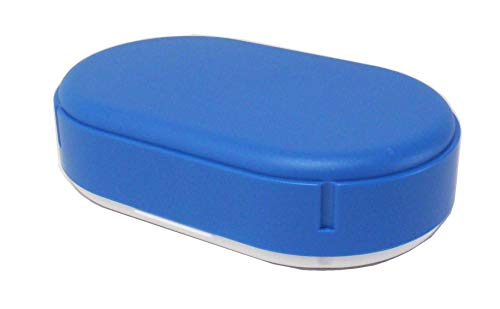 Brotdose, oval, höhenverstellbar, pastell-blau, Sonja-PLASTIC, Made in Germany