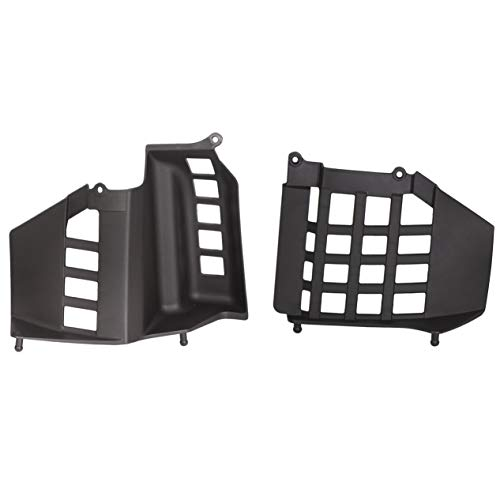 ECOTRIC Black Heel Guards Nerf Bars Compatible with 1987-2006 Yamaha Banshee 350cc Left + Right (Pair)