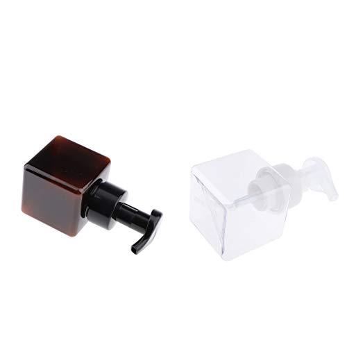 F Fityle 2 Piezas Dispensador de Jabón en Espuma Botella de Bomba de Loción Corporal de Champú de Plástico Vacío
