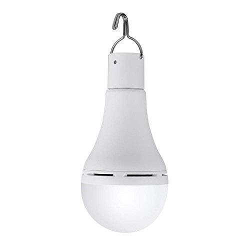 LILICEN Iluminación al Aire Libre, 7W portátil del USB del Panel Solar Recargable de luz de Camping 20 COB Bombilla LED lámpara de Emergencia al Aire Libre