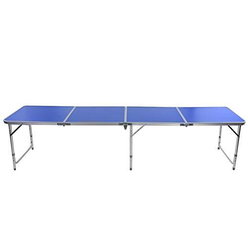 Wakects 3 Fuß Design tragbare Tischtennis Platte Campingtisch Klappbare Tischtennistisch für Innen und Außenbereich, hochwertigem Aluminiumlegierungsmaterial, Gewicht 10450g, blau