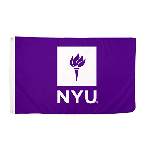 New York University NYU Violets 100% Polyester Indoor Outdoor 3 feet x 5 feet Flag (Design #2)