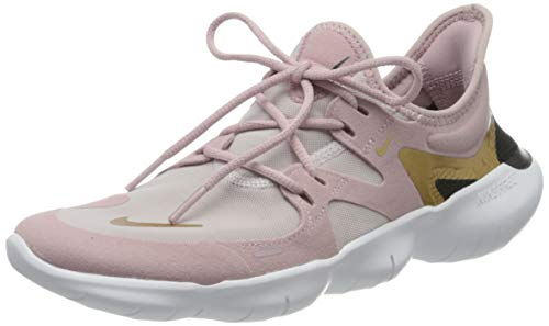 Nike Damen Free Rn 5.0 Laufschuhe, Violett (Plum Chalk/Metallic Gold-Plati 501), 40.5 EU (6.5 UK)
