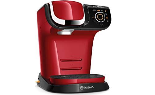 Bosch Hausgeräte TAS6503 Tassimo My Way Kapselmaschine, über 70 Getränke, Personalisierung, vollautomatisch, BRITA Wasserfilter, 1500 W, rot