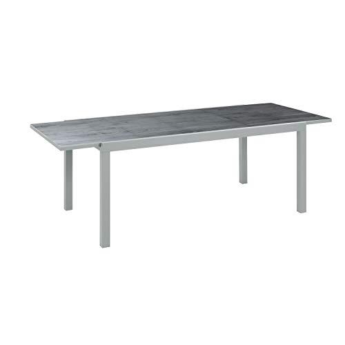 Ribelli Uittrekbare tafel van aluminium, 160/240 x 75 x 90 cm, tuintafel, eettafel, terrastafel, tafel, aluminium tafel, uittrekbare tafel