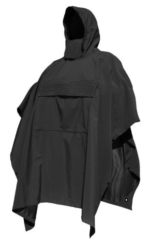 HAZARD 4 Poncho Villa(TM) Technical Soft-Shell Poncho (R) - Black