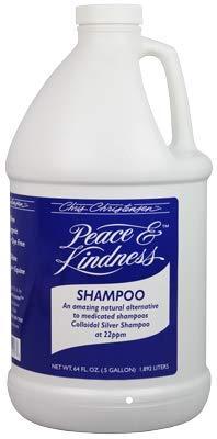 Chris Christensen Shampoo for Dogs - All Natural Peace & Kindness Shampoo - Dog Shampoo for Skin Problems - Colloidal Silver Shampoo - 64 Oz.