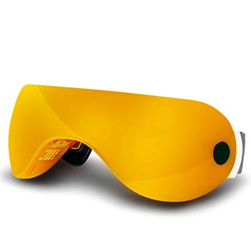 HANYF AugeMassager, Augenschutz/Augenschutz Massage/Dunkle Augenmaske/Massagegerät Eye Bag Entlastungsvorrichtung, lindern Ermüdung der Augen/Dark Eye Bag,Gelb