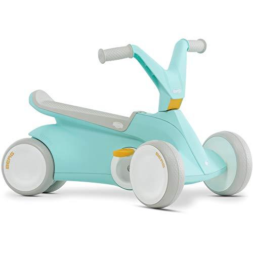 Berg 24.50.02.00 GO² 2in1 Rutschauto | Rutscher und Laufrad, Kinderrutscher, Kinderauto mit Ausklappbare Pedale, Pedal-Gokart, Kinderspielzeug geeignet für Kinder im Alter von 44499 Monaten (Mint)