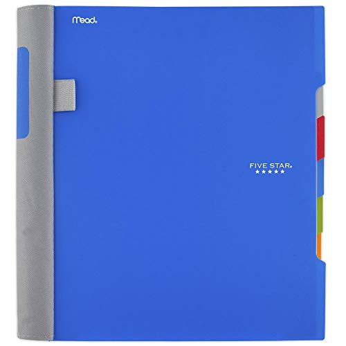 Five Star Advance Spiral Notebook, 5 Subject, College Ruled Paper, 200 Sheets, 11 x 8-1/2 inches, Blue (73150)