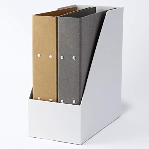 こちらのボックスは、書類が取り出しやすいよう斜めに大きくカットされています。よく見るファイルなどは、出し入れしやすいと嬉しいですね。反対側に向けると、中身を簡単に隠せます。