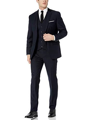Adam Baker Navy Classic Fit Vested Suit