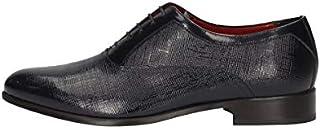 MARINI Derby - Zapatillas elegantes para hombre B8 141, piel azul Matrix Original PE