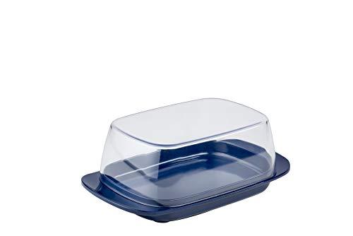 Mepal Butterdose Blue – für 250 g Butter – transparenter Deckel – passt genau in die Kühlschranktüre – spülmaschinenfest, Melamine/SAN, Ocean blau, 17 x 9.8 x 6 cm
