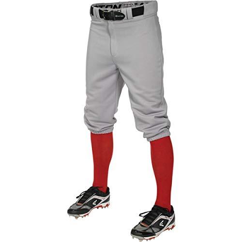Easton Herren Pro + Knicker Baseballhose, Herren, Erwachsene, PRO+ Knicker Baseball Pant, grau, XX-Large