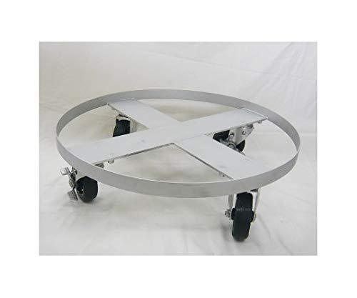 キャンロット ドラム缶用台車 ゴム車輪 TD-6030-R