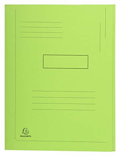 Exacompta 445013E - Subcarpeta con 2 solapas, A4, 280 g, verde, 1 unidad