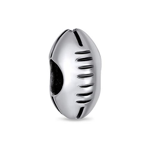 American Football Usa Rugby Sport Ball Team Charm Perle Für Frauen Oxidiert 925 Sterling Silber Passt Europäische Armband