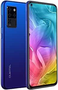 Mobile Phones Sim Free Unlocked, OUKITEL C21 4GB+64GB 6.4 Inch Dewdrop Full Screen phone 64MP AI Penta-Camera Triple Camera 4000mAh Mobile Phones Blue (2 Years Warranty)