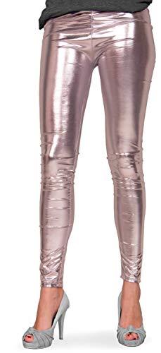Folat 61712 -Legging Metallic, S-M, Silber