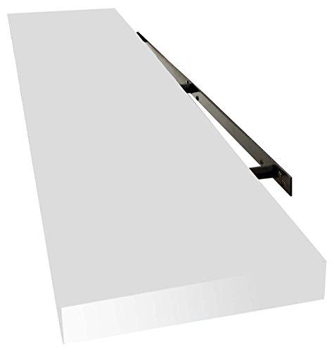 Inalsa Estante Color Blanco 100 Cm, Sistema De Fijacion Invisible, Madera, 100 X 23.5 X 3.8 Cm