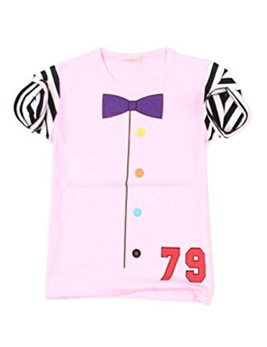 2 pièces fashion Insider Rose Nœud Papillon T-shirt à manches courtes pour Garçon Cool/Hauteur 120 cm
