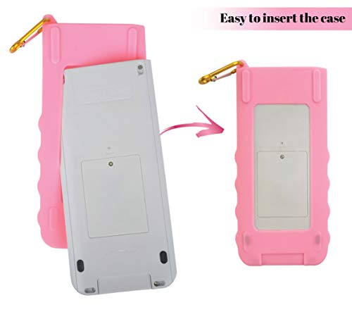 Sully Silicone Skin for Ti Nspire CX/CX CAS Handheld (Pink) w/Screen Protector - Silicon Cover Case for Ti-Nspire CX Hand held Graphing Calculator - Protective & Anti-Scretch Skins & Screen Covers Photo #2