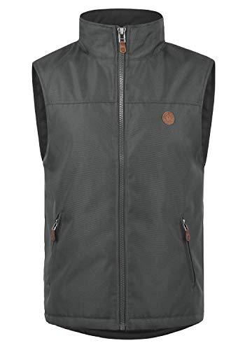 !Solid Oxfo Herren Weste Outdoor-Weste Mit Stehkragen, Größe:XL, Farbe:Forged Iron (2820)