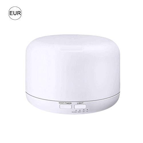 Hearthrousy Aroma Diffuser Mini Aromatherapie Luftbefeuchter Ultraschall Vernebler 300 ml Öle Diffusor Humidifier 7 Farben LED Lichter Timer und automatischer Schließung für Zuhause, Büro