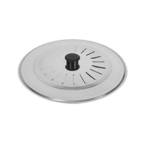 EUROXANTY Tapa para sartenes y ollas | Tapadera Multiusos | Tapadera antisalpicaduras | Tapa con Mango ergonómico | Varios diámetros | Tapa de Metal 18cm
