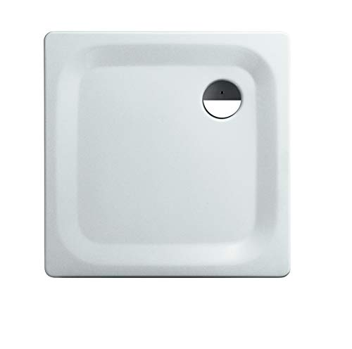 Calmwaters® - Essential Soft - Kleine Bodengleiche Dusche in 80 x 80 x 2,5 cm mit 90 mm Abfluss aus Stahl-Emaille - 01XP2223