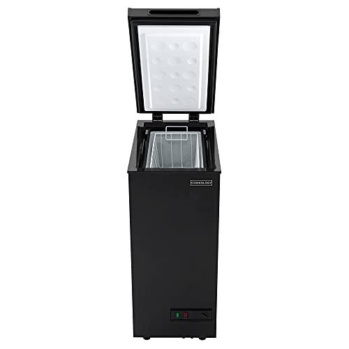 Cookology CCF51BK Black Chest Freezer for Outbuildings, 51L Capacity