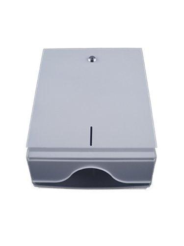 Papierhandtuchspender Metall, weiß und abschließbar