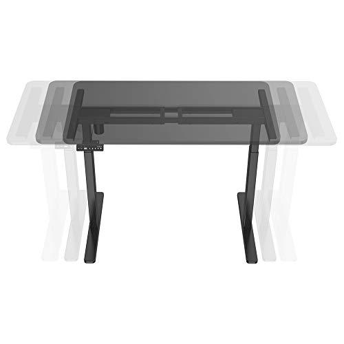 [en.casa] Tischgestell Höhenverstellbar Schreibtisch Arbeitstisch Elektrisch Höhenverstellbares Gestell 71-116 cm Variable Gestellbreite Schwarz