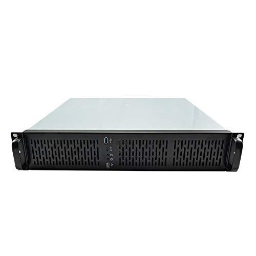 """Caja Rack 2129 19"""" 2U - Silver/Black 1*USB 3.0 + 1*USB 2.0"""