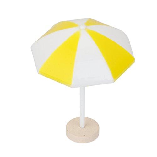 MagiDeal Parasol de Plage Miniature PVC Décoration pour Micro Paysage Bonsaï - Jaune