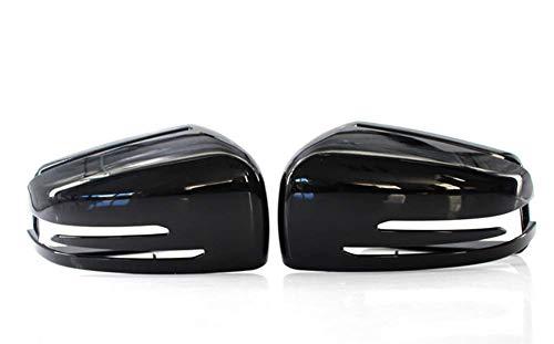 2 piezas de cubiertas de espejo retrovisor de coche, tapas superiores de espejos retrovisores, para Mercedes-Benz W176 W246 W204 W212 W221 CLS, accesorios de cubiertas de espejo retrovisor automático