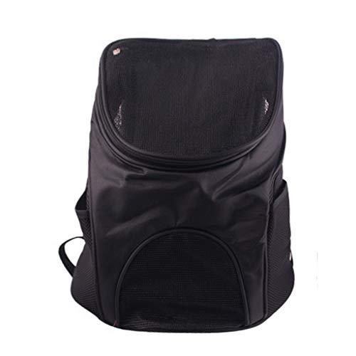 Mikiya Faltbarer Transportrucksack Hunderucksack für Hunde, Robuster Haustier-Rucksackträger für kleine Hunde und Katzen(Schwarz)