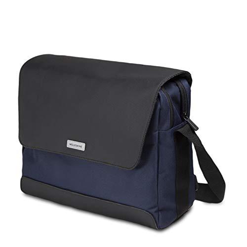 Moleskine City Travel schoudertas voor 33 cm (13 inch) laptops en tablets, dubbele ritssluiting, 35 x 12 x 29 cm n/a Blu Zaffiro