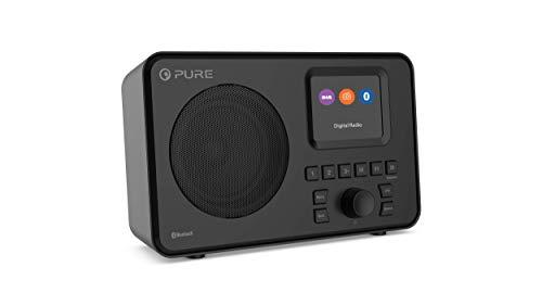 Pure Elan One tragbares DAB+ Radio mit Bluetooth 5.0 (DAB/DAB+ und UKW Radio, 2,4' TFT Display, 20 Senderspeicher, 3-Preset-Tasten, 3.5 mm AUX Anschluss, Batteriebetrieb möglich, USB), Schwarz