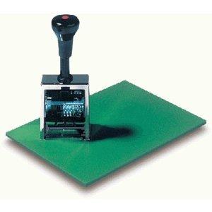 Läufer Stempelunterlage Kautschuk 230x170x5mm grün