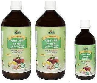 Apple Cider Vinegar With Garlic, Ginger, Lemon And Honey - 1200 ml Pack (40.58 OZ)